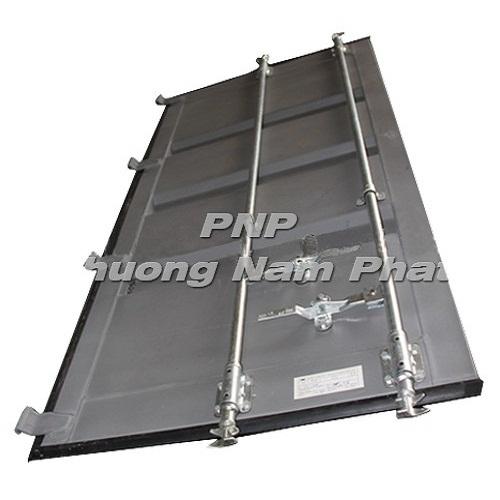 Corten-steel-shipping-container-door-panel